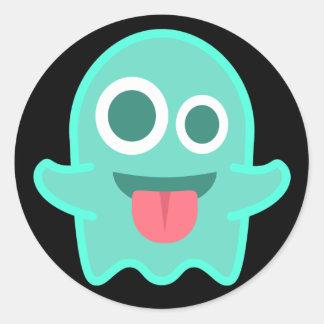 Sticker Rond Fantôme drôle Emoji