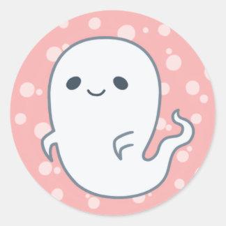 Sticker Rond Fantôme éffrayant par Yokute