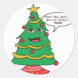 Sticker Rond Faux arbre