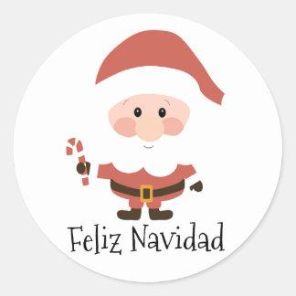 Sticker Rond Feliz Navidad