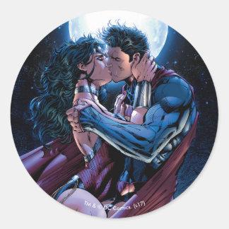 Sticker Rond Femme de merveille de la ligue de justice #12 et