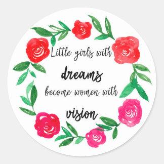 Sticker Rond Femmes fortes