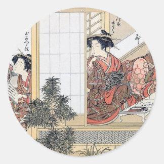 Sticker Rond Femmes japonaises
