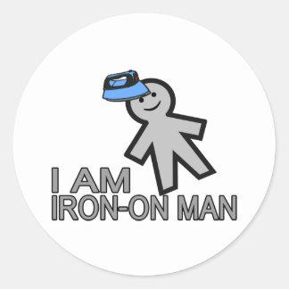 Sticker Rond Fer-Sur l'homme