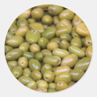 Sticker Rond Fermez-vous des olives vertes