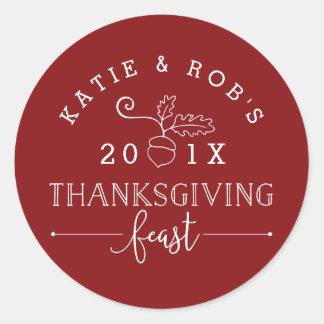 Sticker Rond Festin de thanksgiving