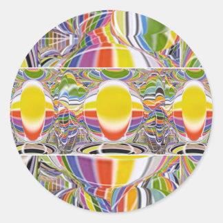 Sticker Rond Festival des lumières - Nuit Blance