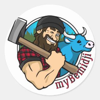 Sticker Rond feuille d'autocollant de myBemidji