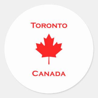 Sticker Rond Feuille d'érable de Toronto Canada