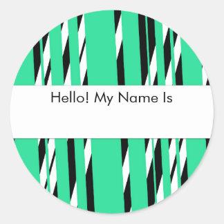 Sticker Rond Feuille élégante d'autocollant de vert de mousse