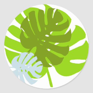 Sticker Rond feuilles