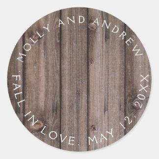 Sticker Rond Ficelle rustique de partie/de mariage