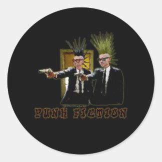 Sticker Rond Fiction punk V3 - 022