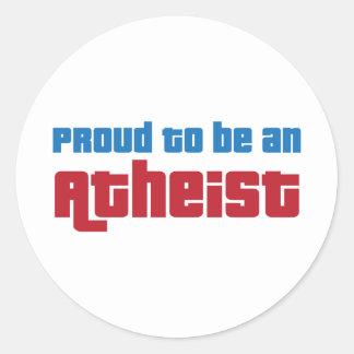 Sticker Rond Fier d'être un athée