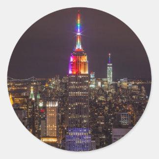 Sticker Rond Fierté d'Empire State Building