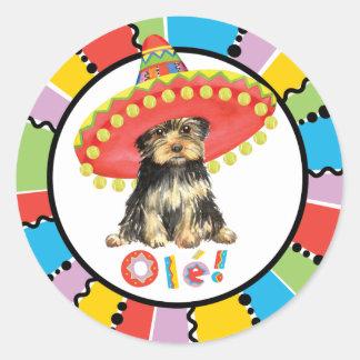 Sticker Rond Fiesta Yorkie