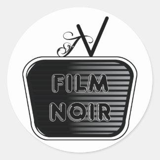 Sticker Rond Film Noir