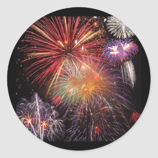 Sticker Rond Finale de feux d'artifice