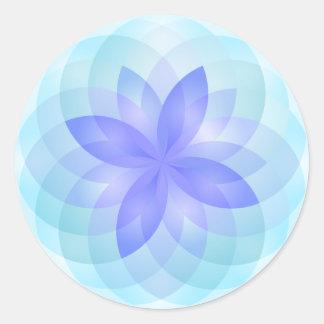 Sticker Rond Fleur de lotus d'autocollant
