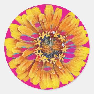 Sticker Rond Fleur d'été en pleine floraison
