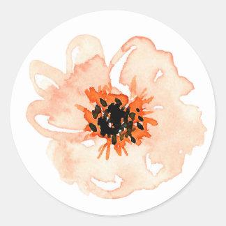 Sticker Rond Fleur simple de parc de verger