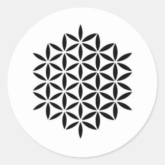 Sticker Rond Flora~Deus