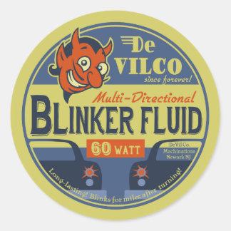 Sticker Rond Fluide de feu clignotant de DeVilCo