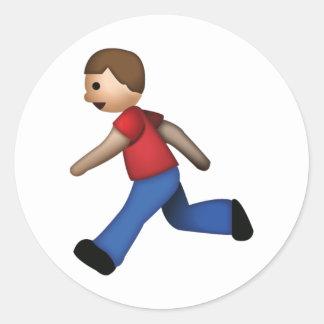 Sticker Rond Fonctionnement d'homme - Emoji