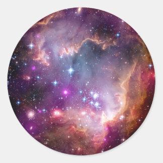 Sticker Rond Formation d'étoile de NGC 602 - photo de l'espace