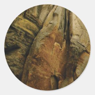 Sticker Rond forme et forme de roche