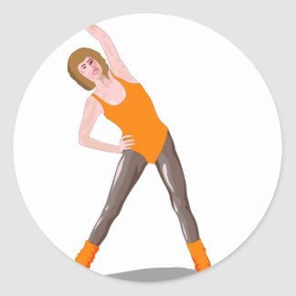 Sticker Rond forme physique 80s