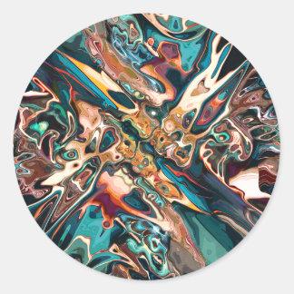 Sticker Rond Formes abstraites mélangées