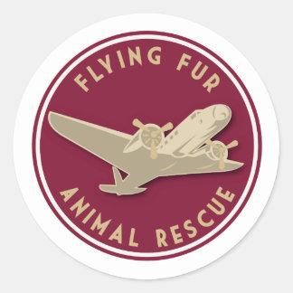 Sticker Rond Fourrure de vol - logo rond de ligne aérienne