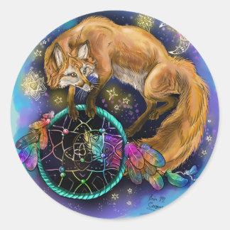 Sticker Rond Fox de DreamCatcher