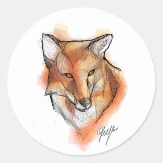 Sticker Rond Fox Stiker