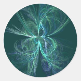 Sticker Rond Fractale d'énergie psychique