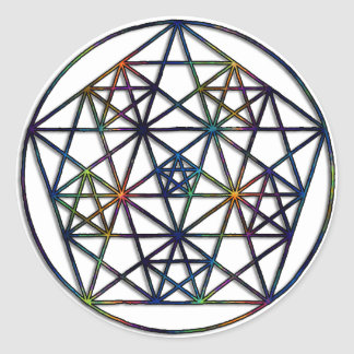 Sticker Rond Fractale sacrée de la géométrie d'abondance de la
