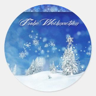 Sticker Rond Frohe Weihnachten