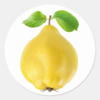 Sticker Rond Fruit de coing