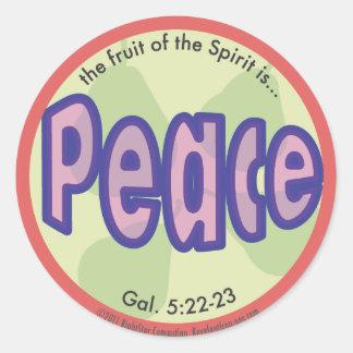 Sticker Rond Fruit de paix de l'autocollant de tache d'esprit