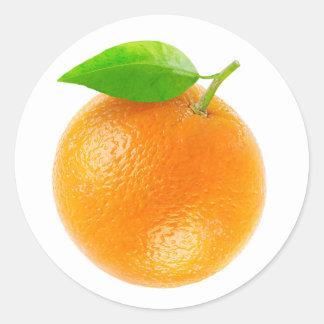 Sticker Rond Fruit orange