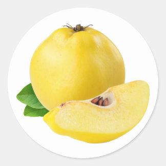 Sticker Rond Fruits de coing
