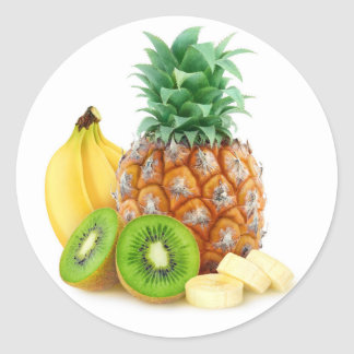 Sticker Rond Fruits tropicaux