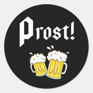 Sticker Rond Funny Prost Beer fête de la bière fête
