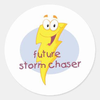 Sticker Rond Futur chasseur de tempête