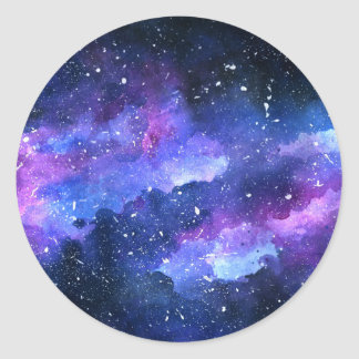 Sticker Rond Galaxie
