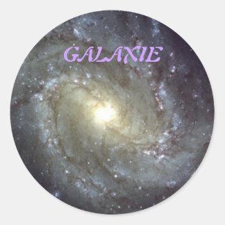 STICKER ROND GALAXIE