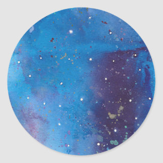 Sticker Rond Galaxie bleu-foncé