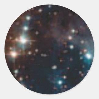 Sticker Rond galaxie de manière laiteuse