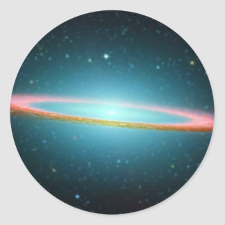 Sticker Rond Galaxie en spirale NGC 4594 de sombrero